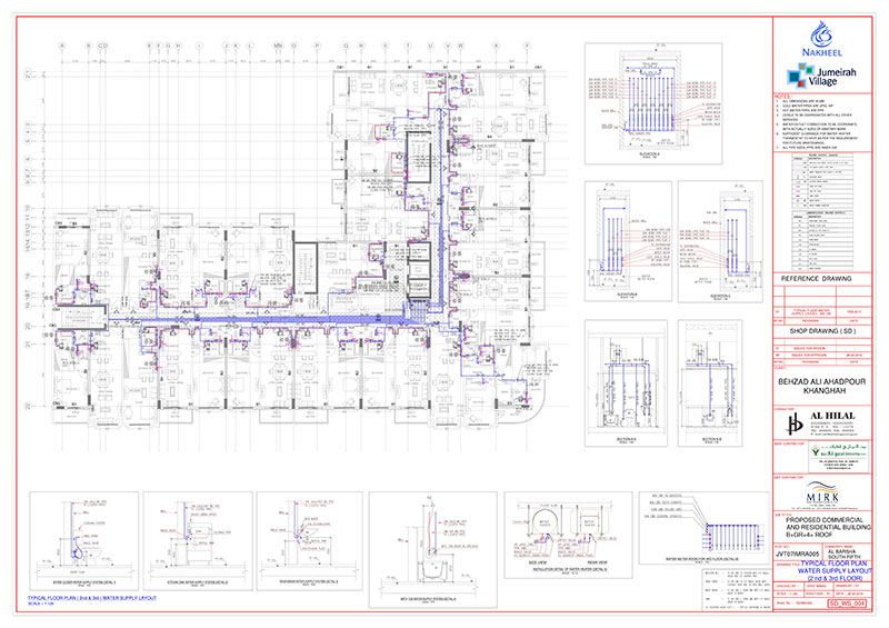 Plumbing Piping CAD Drawings, Drafting, Mitigation Cost