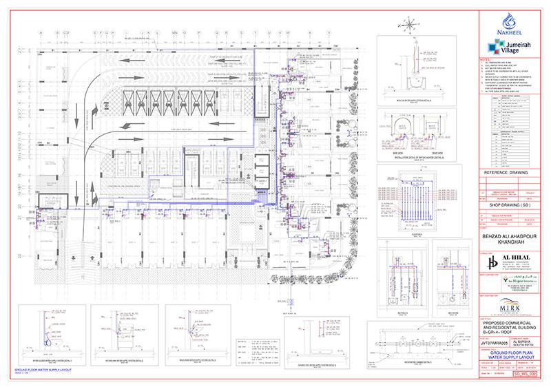 Plumbing Piping CAD Drawings, Drafting, Mitigation Cost
